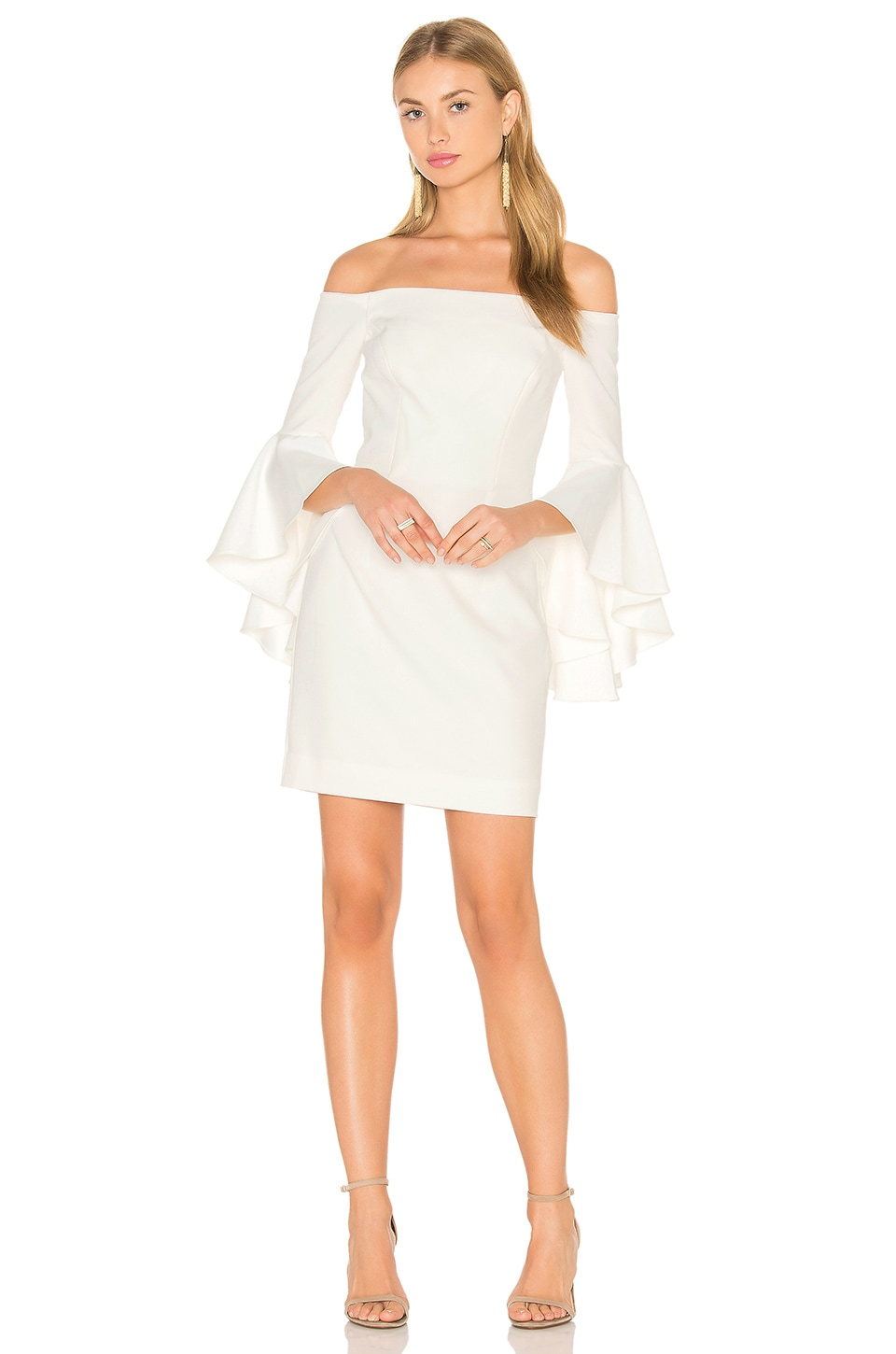 MILLY Cady Selena Mini Dress in White | REVOLVE
