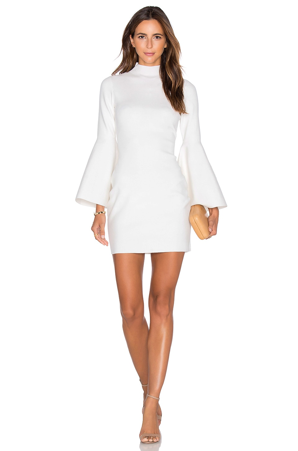 MILLY Swing Sleeve Dress in White | REVOLVE
