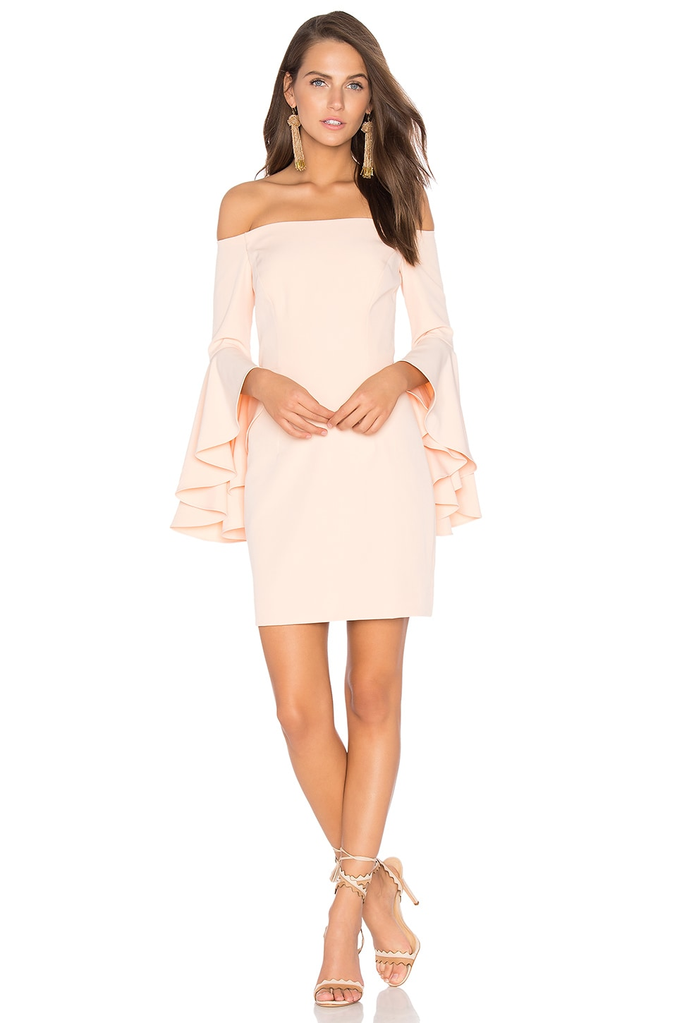 MILLY Selena Mini Dress in Peach