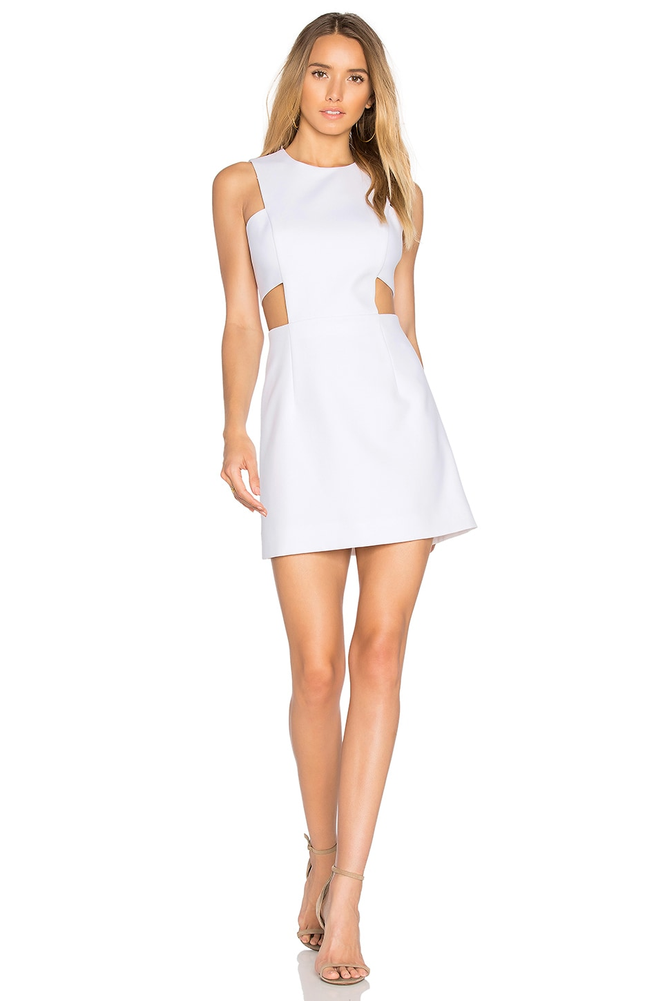 MILLY Cut Out Mini Dress in White | REVOLVE