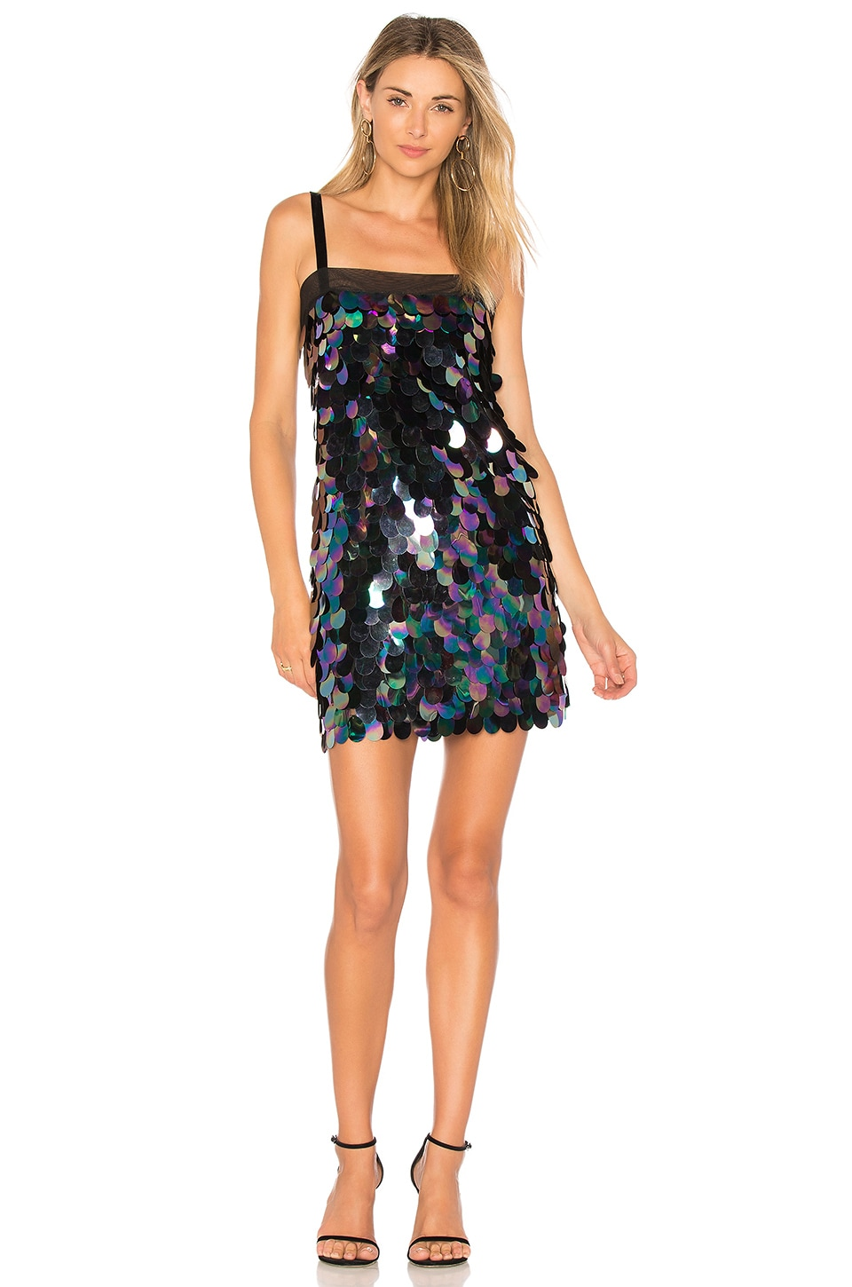 MILLY Sequin Mini Dress in Peacock | REVOLVE