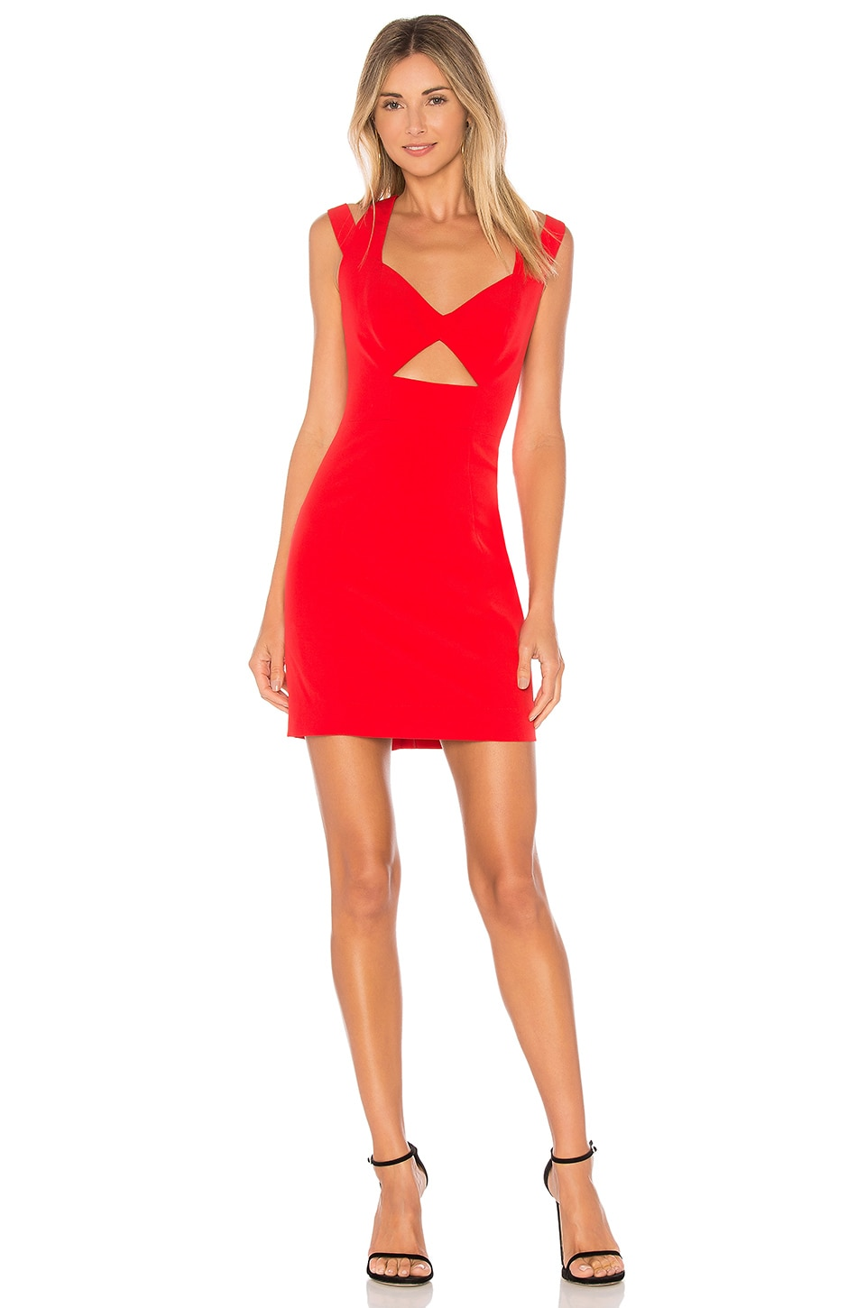 MILLY Cutout Mini Dress in Red