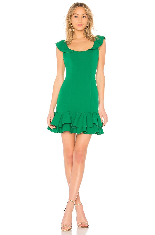 MILLY Savannah Dress in Emerald