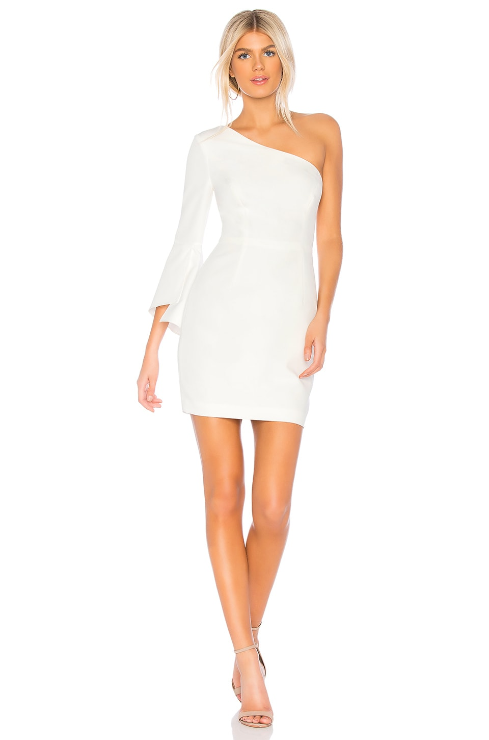 MILLY Sandrine Mini Dress in White