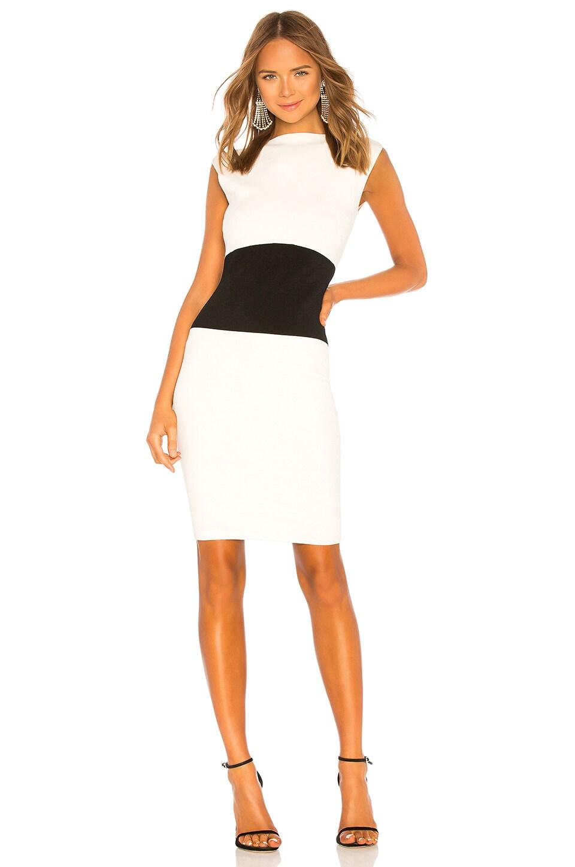 MILLY Bateau Sheath Dress in White & Black