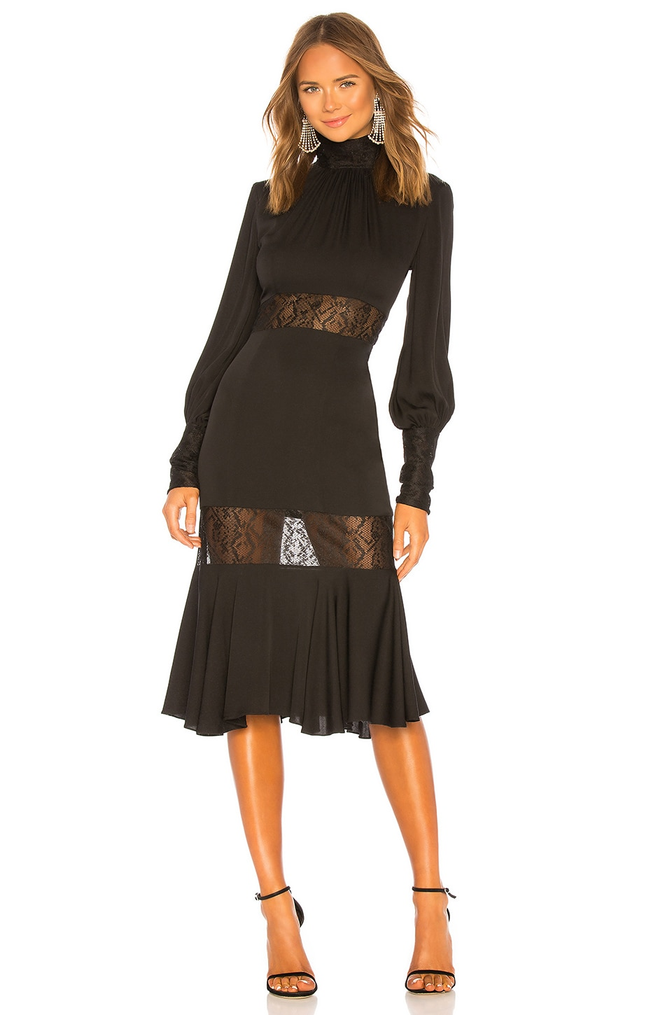 MILLY Arianna Dress in Black