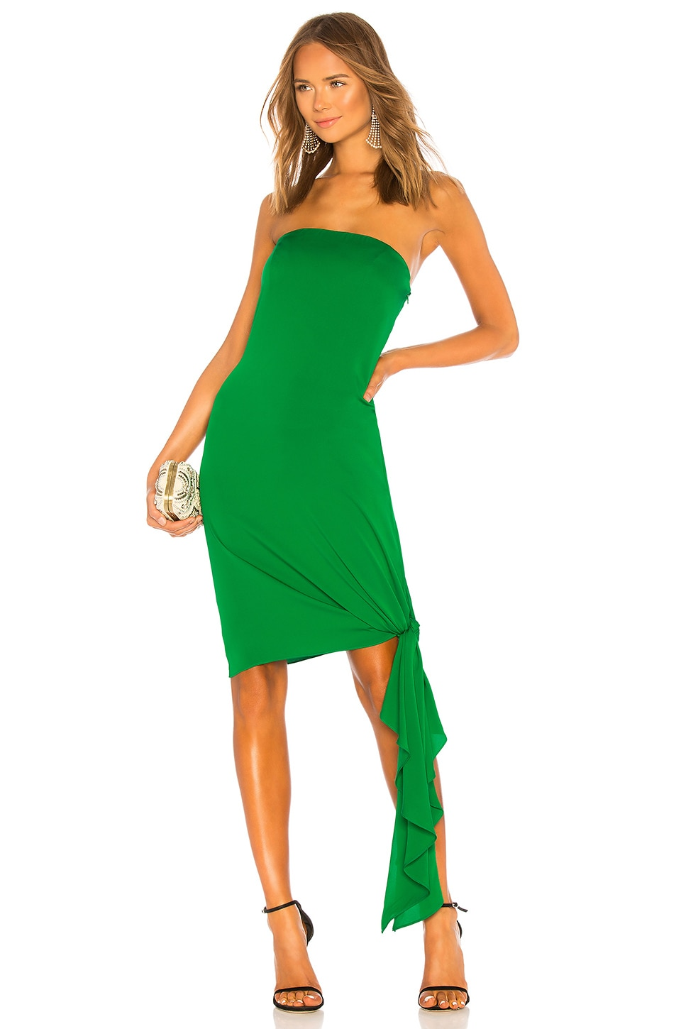 MILLY Callie Dress in Emerald