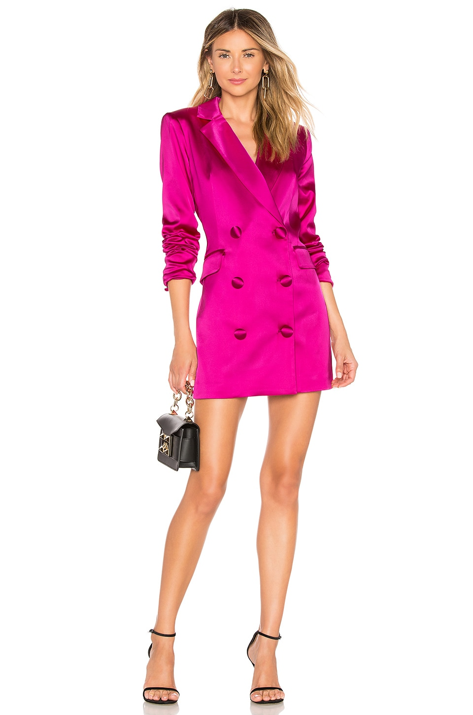 MILLY Blazer Mini Dress in Fuchsia
