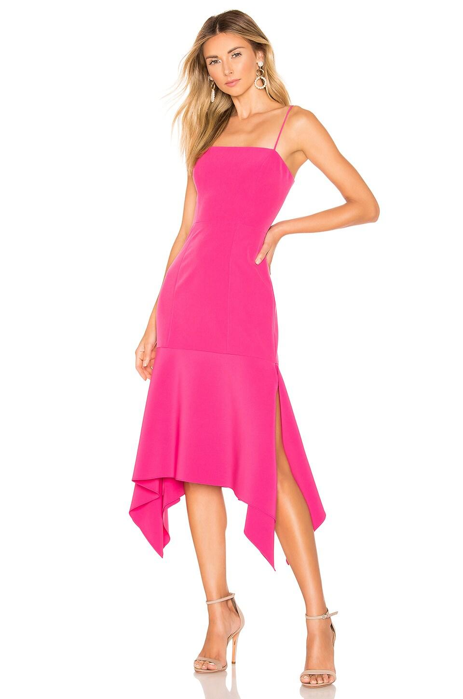 MILLY Tia Dress in Raspberry