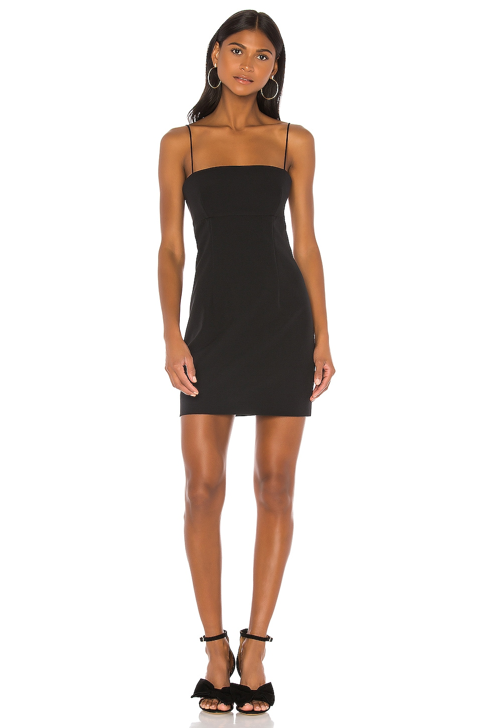 MILLY Reina Mini Dress in Black
