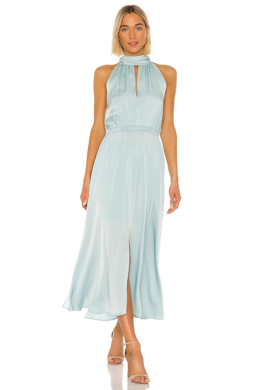 MILLY Stretch Silk Ari Dress in Sea Green