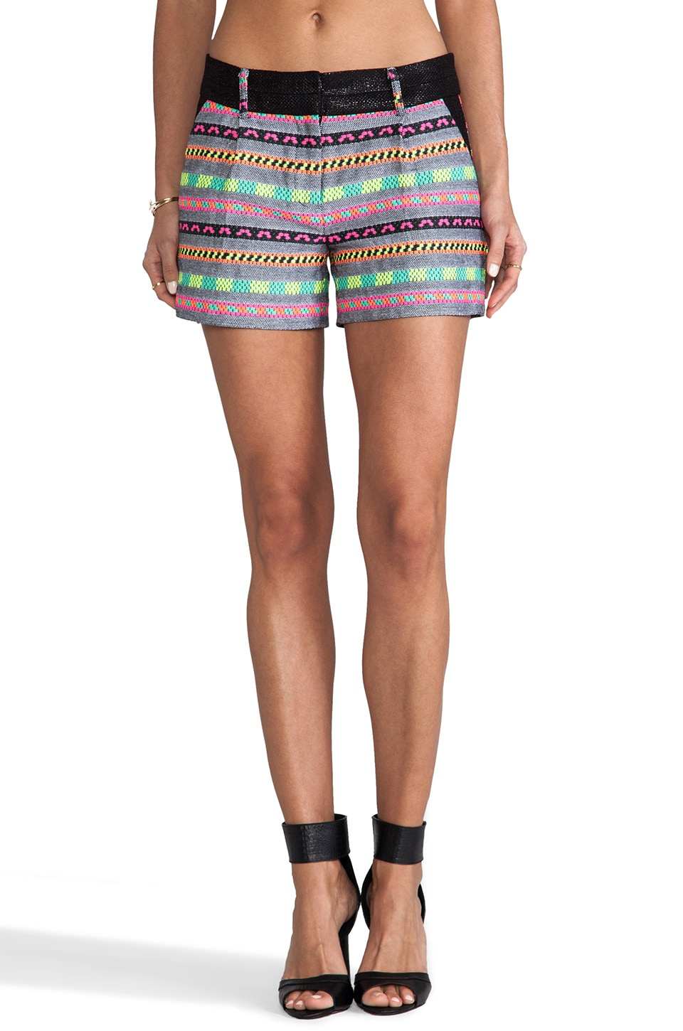 MILLY Aztect Couture Tweed Side Pocket Short in Multi