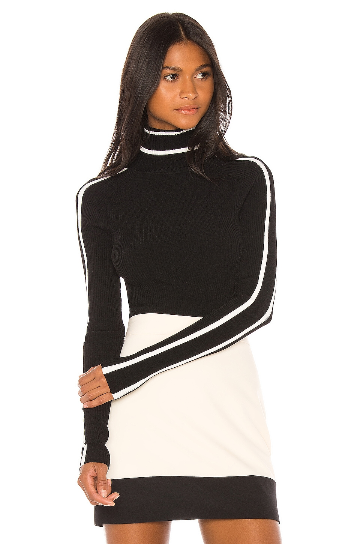 MILLY Racer Stripe Pullover в цвете Black Multi