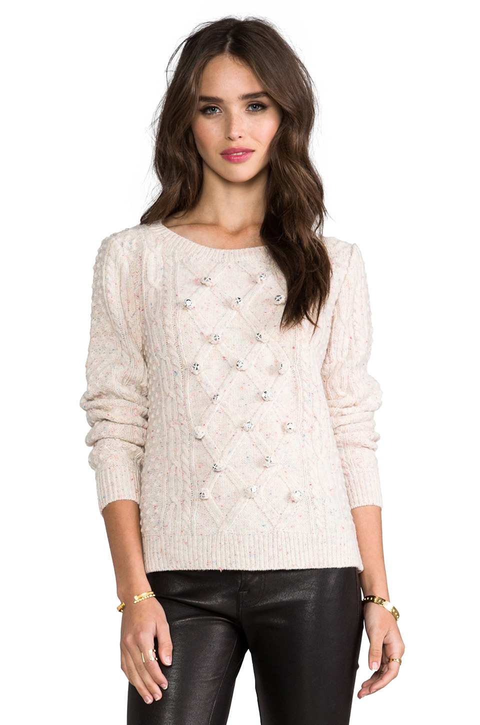 MILLY Sparkle Sweater in White