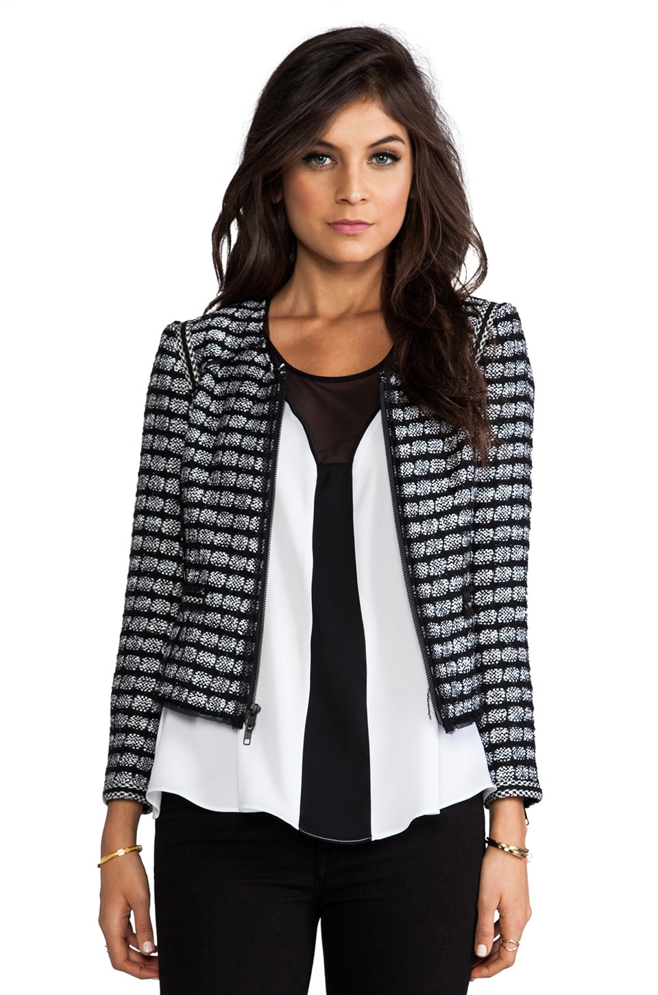 MILLY Trim Jacket in Black