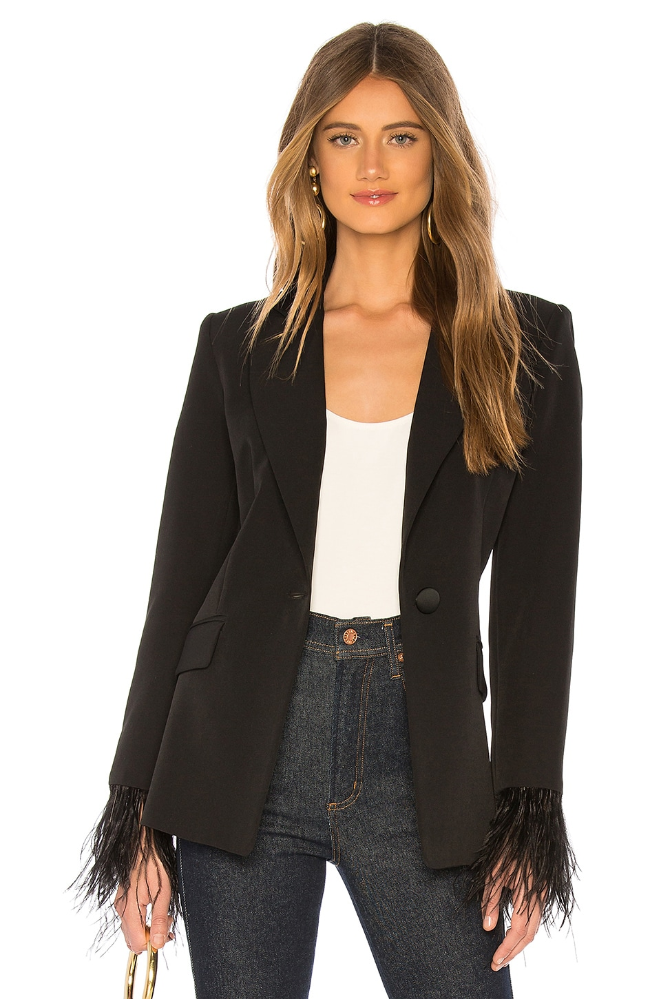 MILLY Fitted Blazer in Black