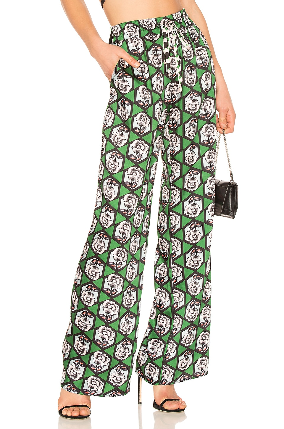 Hexagon Floral Print Pant