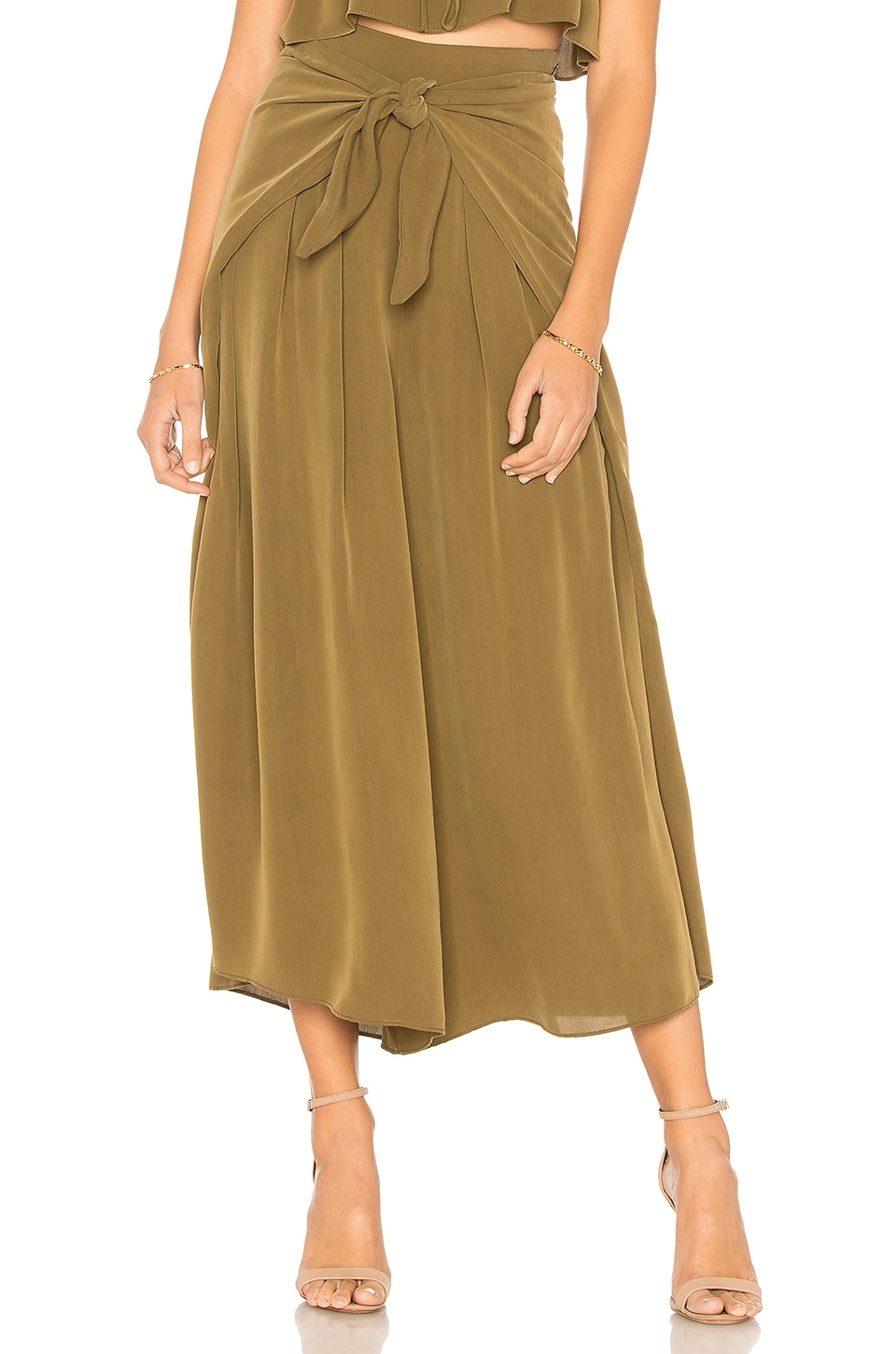 Cropped Sarong Tie Pant