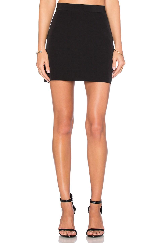MILLY Modern Mini Skirt in Black