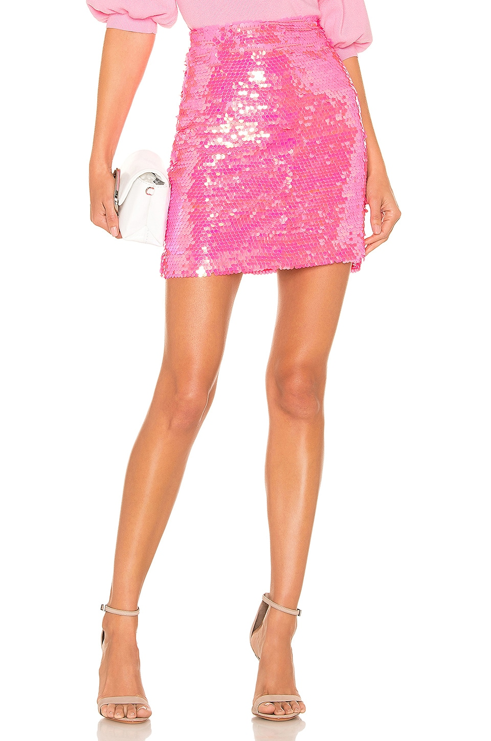 Milly MILLY MODERN MINI SKIRT IN PINK.