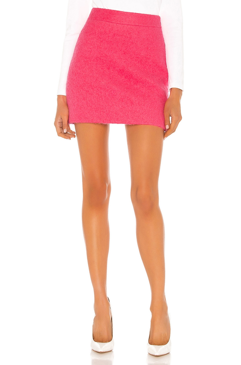 MILLY Modern Mini Skirt in Guava