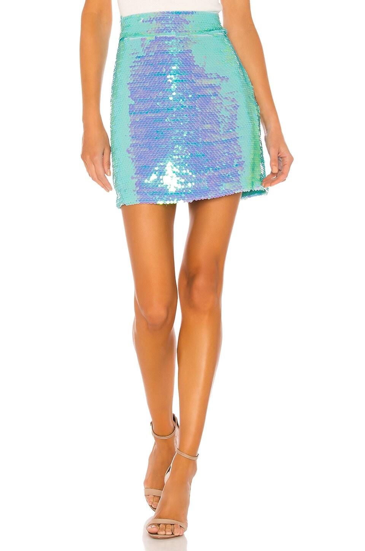 MILLY Modern Mini Skirt in Mint