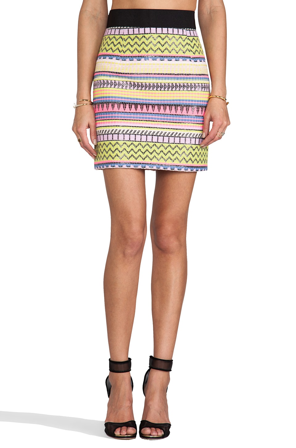 MILLY Mini Pencil Skirt in Multi
