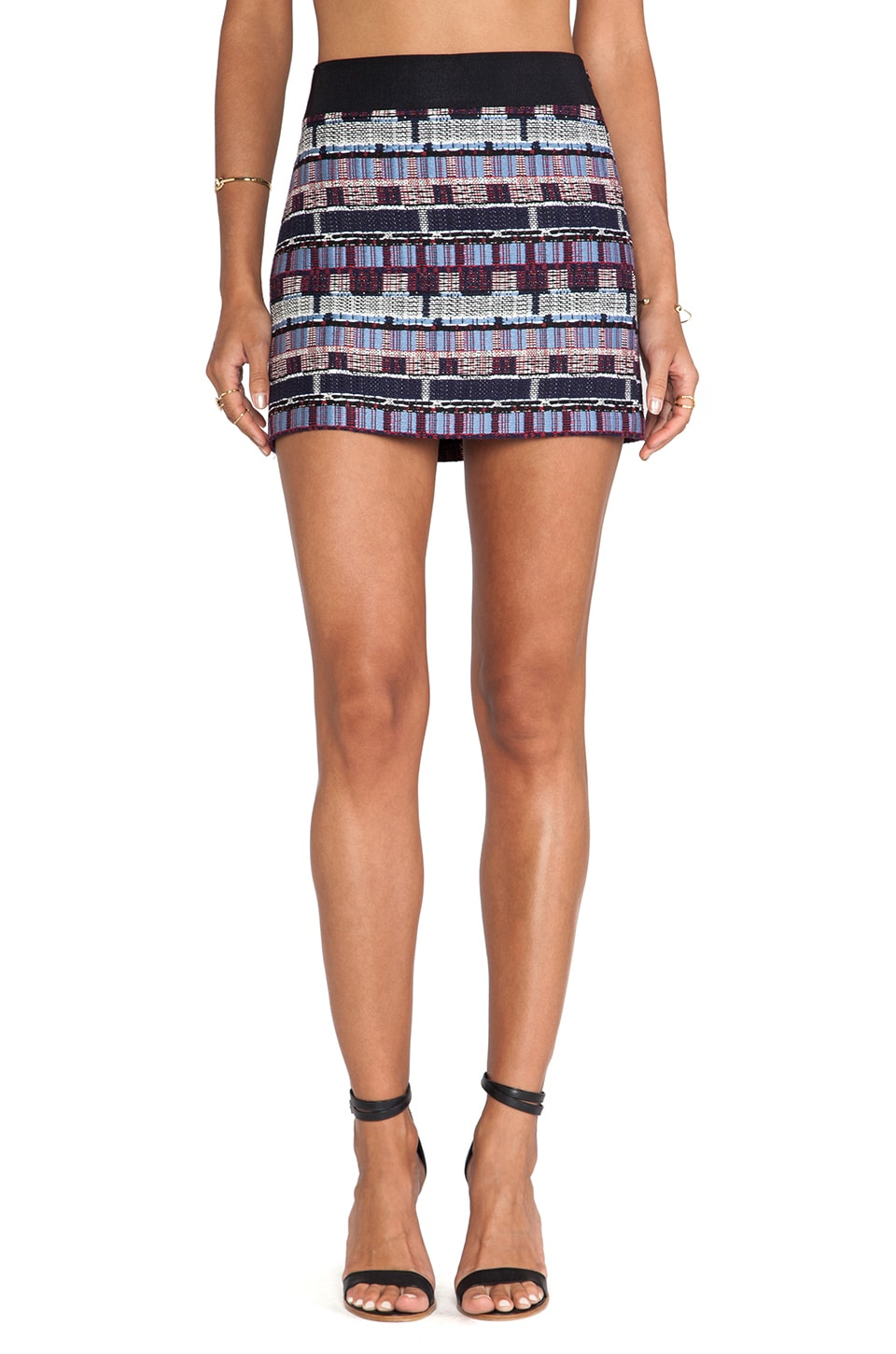 MILLY Couture Tweed Mini Skirt in Multi