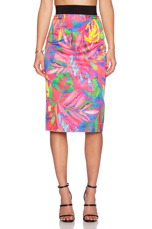 MILLY Midi Pencil Skirt in Multi