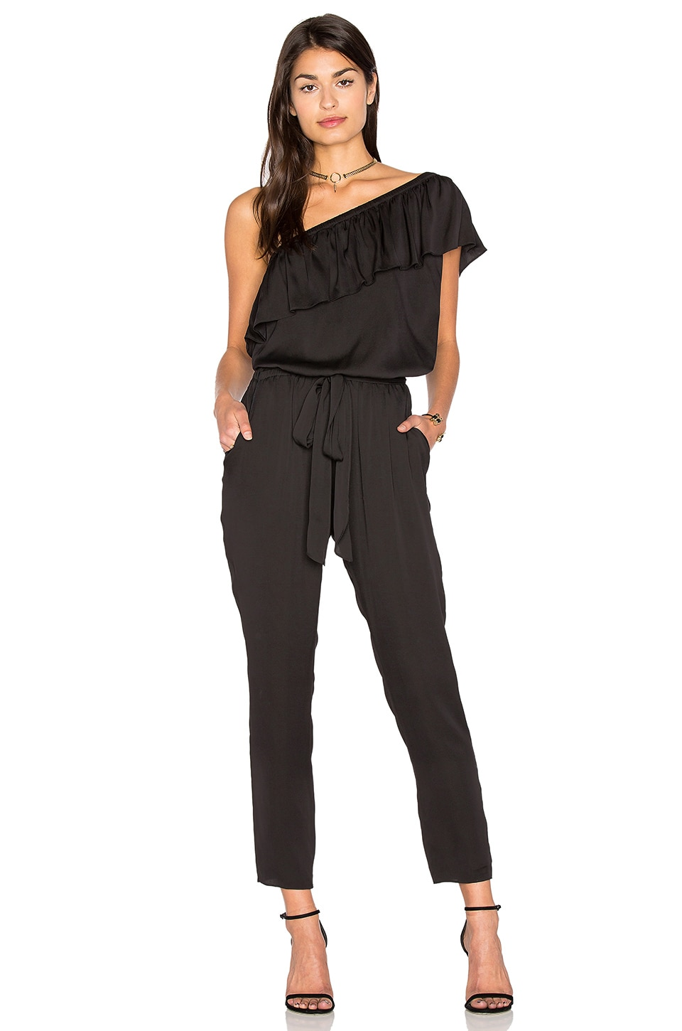 One Shoulder Jumpsuit by MILLY