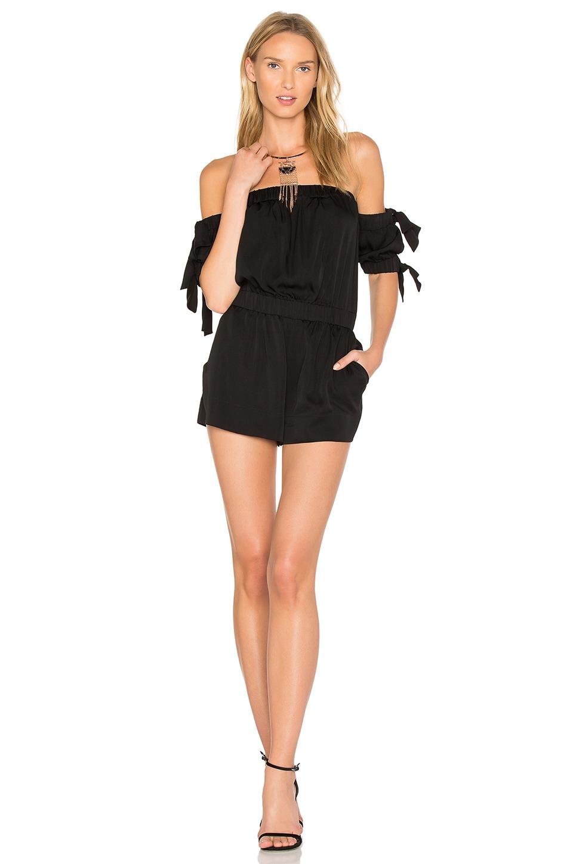 MILLY Zoey Romper in Black