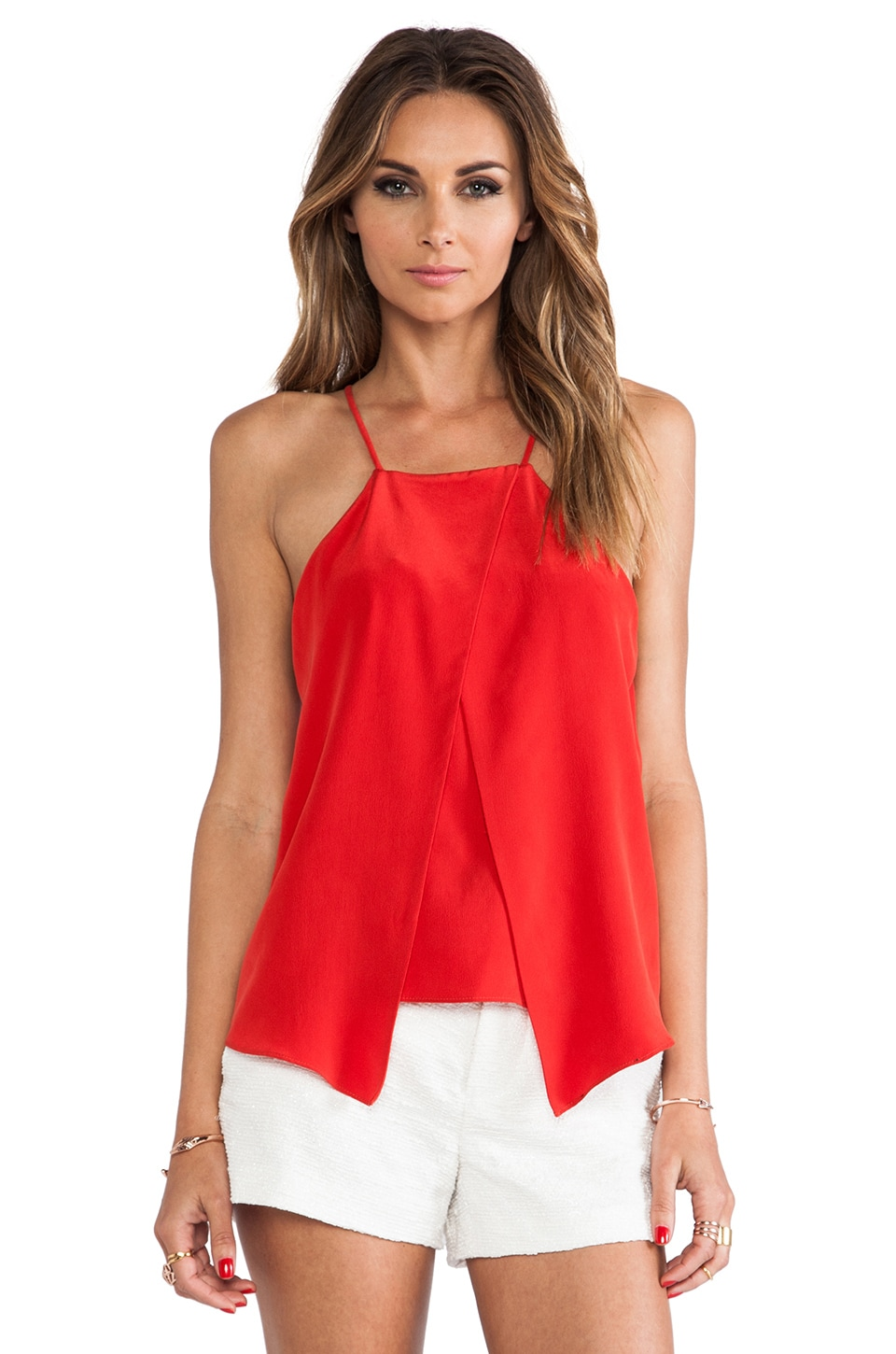 MILLY Crossover Tank in Poppy