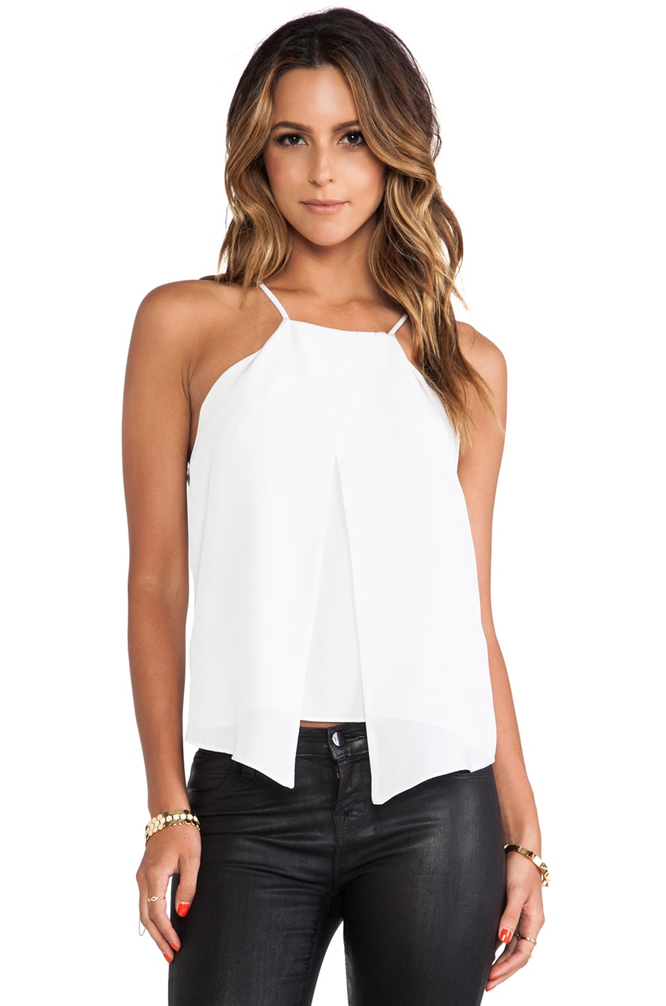 MILLY Crossover Tank in White