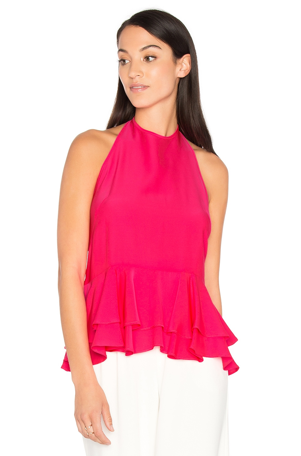 Halter Ruffle Tank by Milly