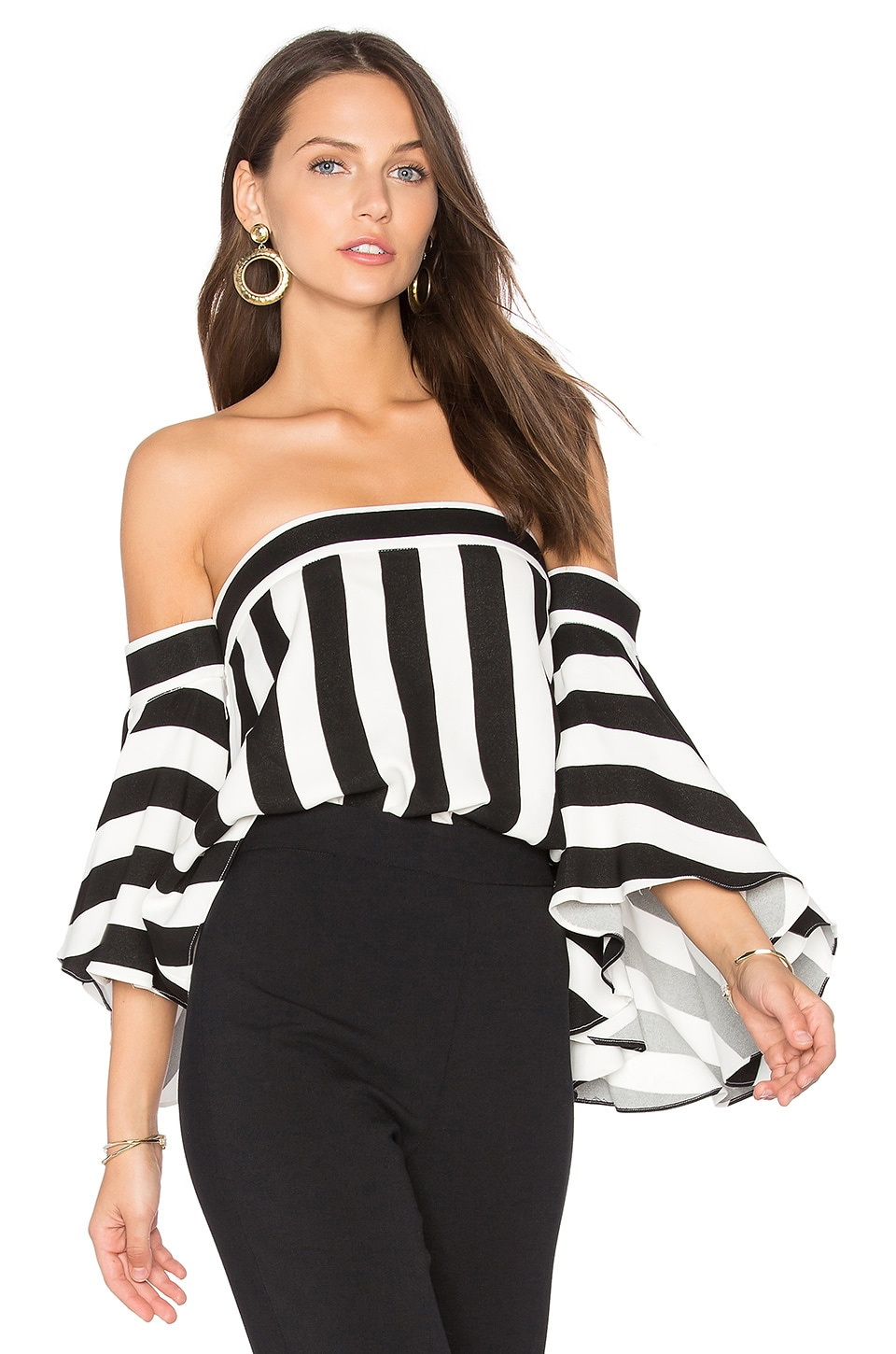 MILLY Rosa Top in Black & White