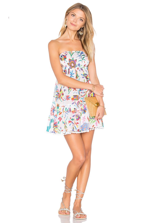 Smocked Flounce Dress by MILLY Swimwear