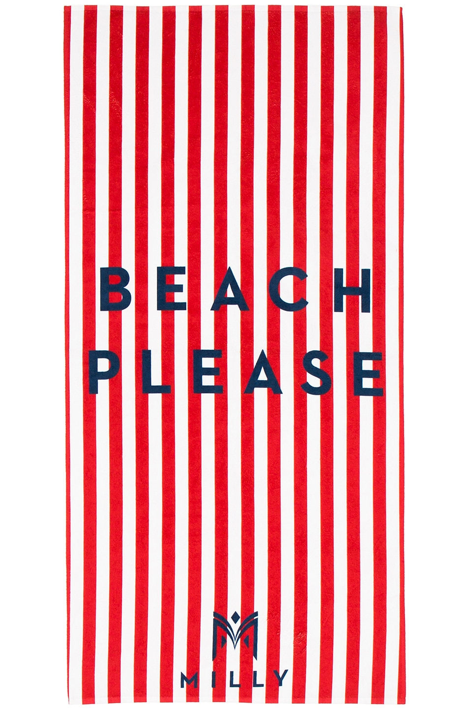 MILLY Beach Please Striped Beach Towel in Poppy