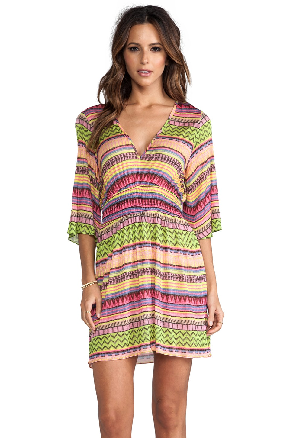 MILLY Como Tunic Dress in Multi