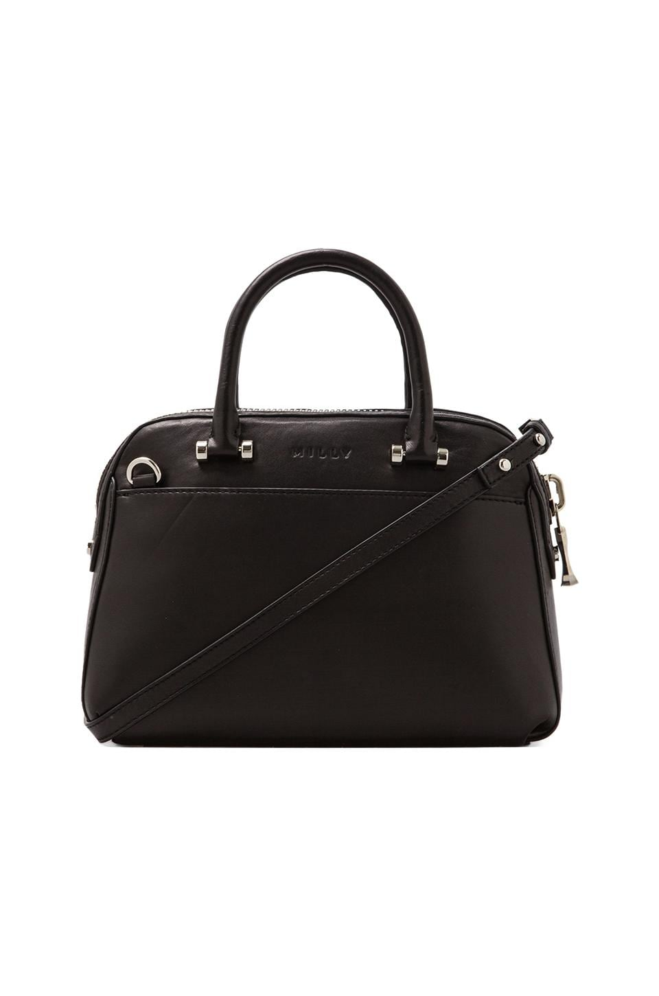 MILLY Blake Collection Small Satchel in Black