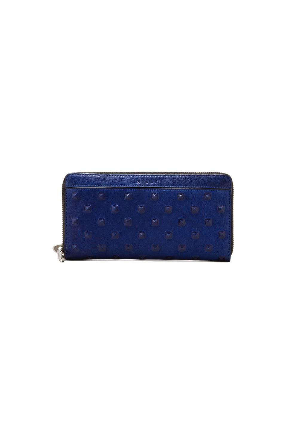 MILLY Perry Collection Zip Around Wallet in Blue
