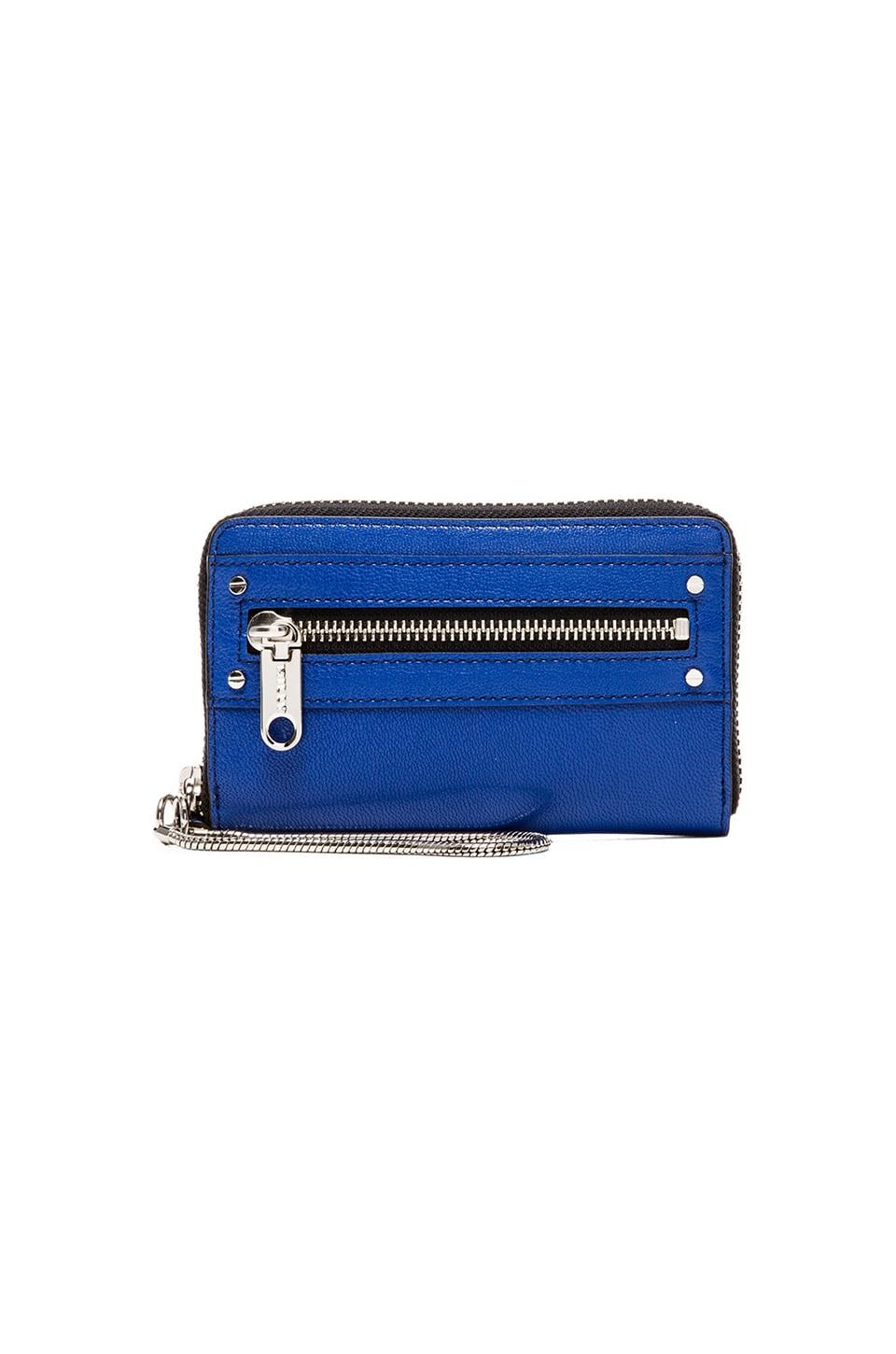 MILLY Riley Collection Smart Phone Wristlet in Blue