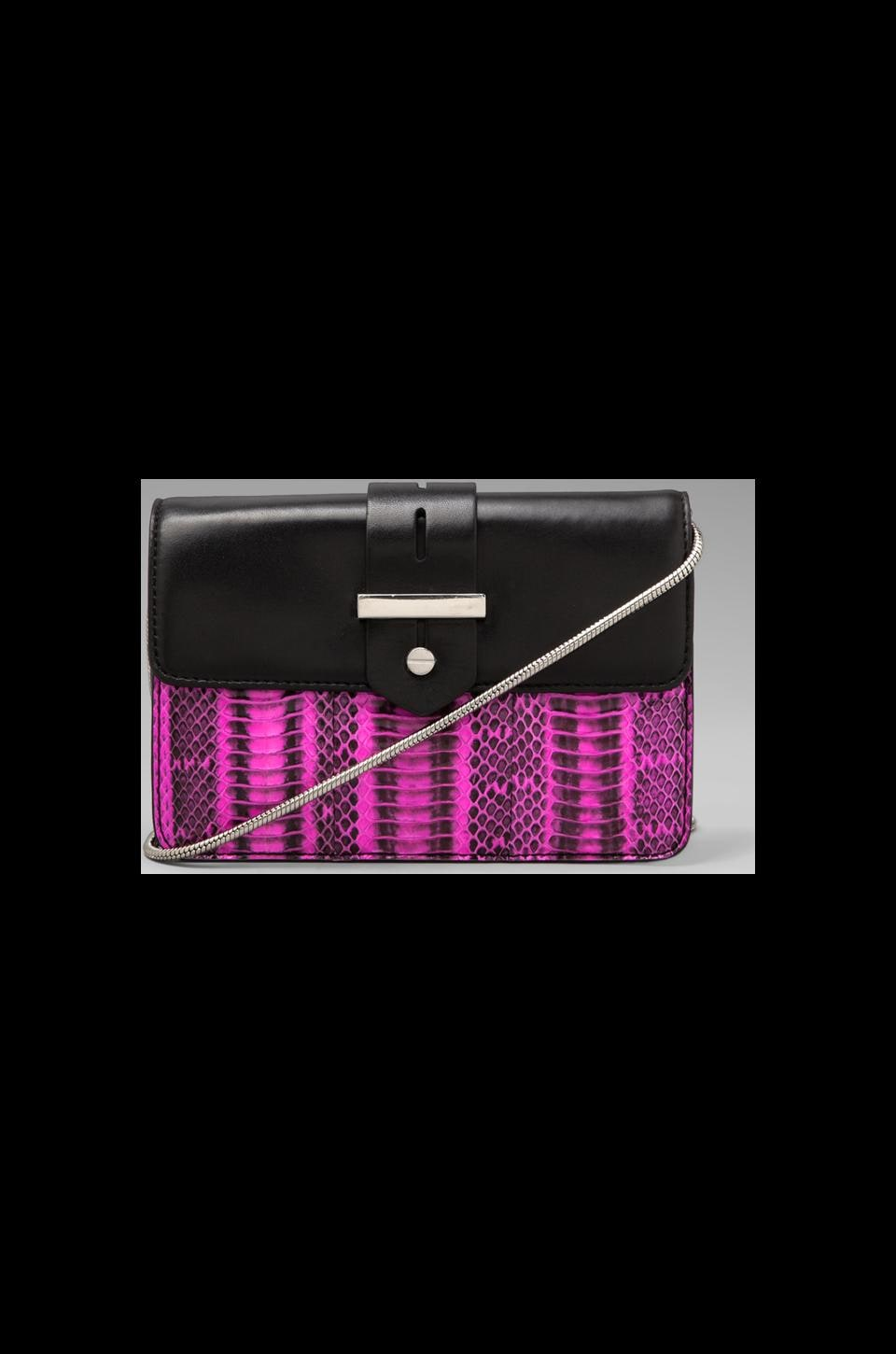 MILLY Makenna Watersnake Collection Mini Bag in Pink