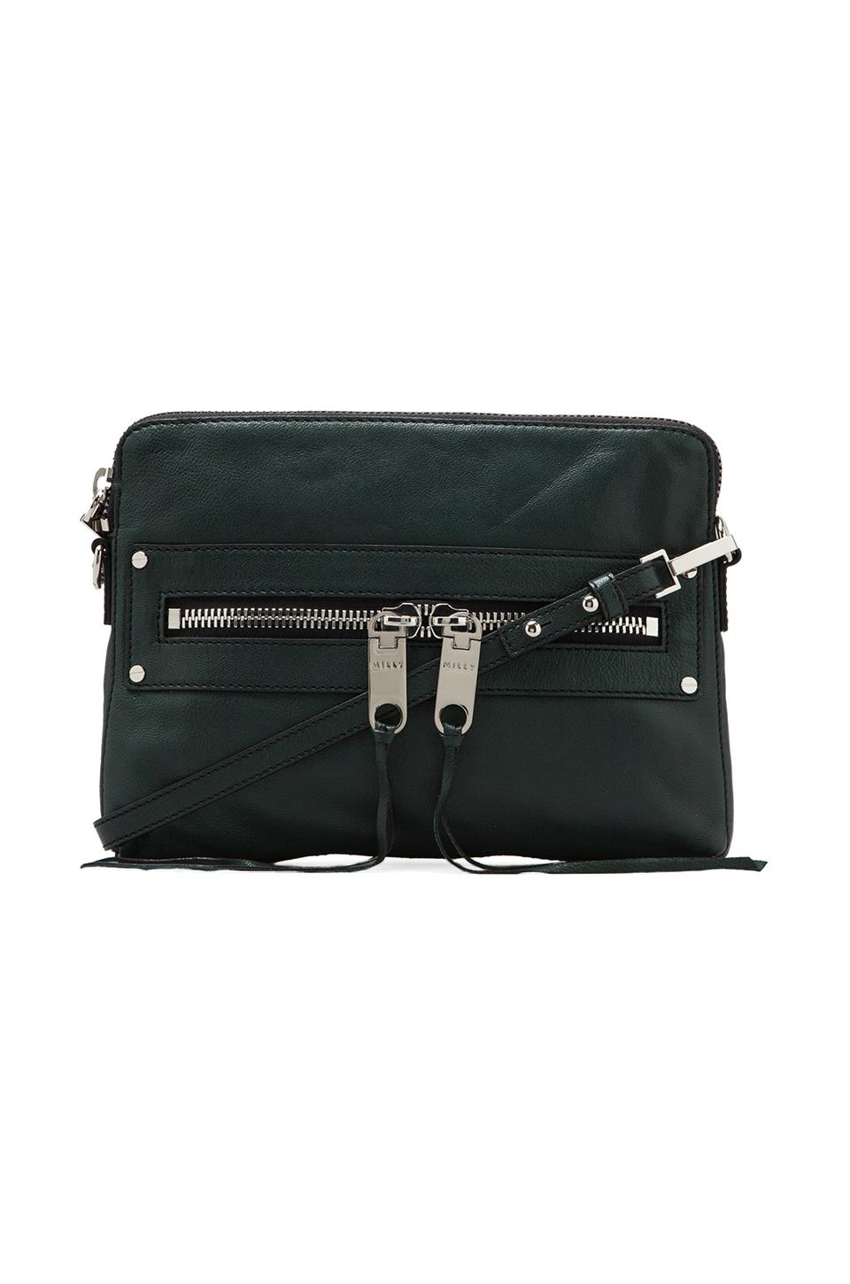 MILLY Riley Collection Crossbody Bag in Emerald