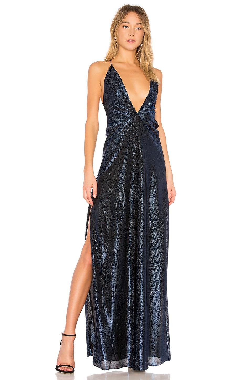 Alexandra Lame Maxi Dress