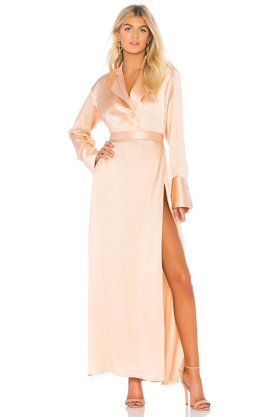 Michael Lo Sordo Relaxed Shirt Dress in Nude
