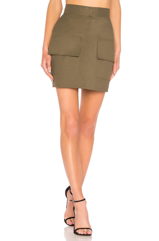 Michael Lo Sordo Front Pocket Mini Skirt in Green