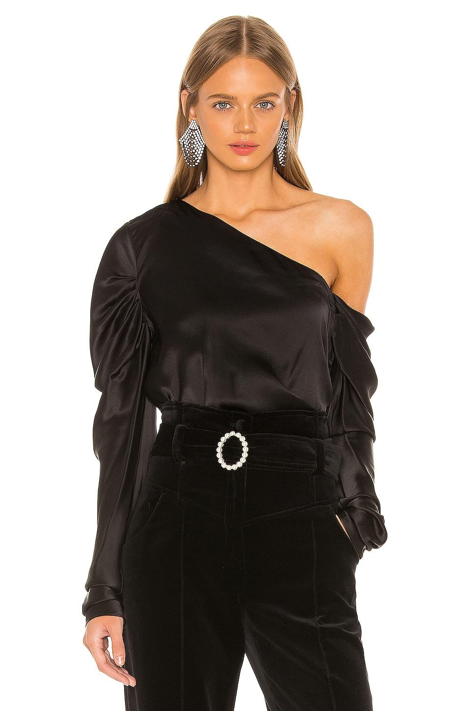 Michael Lo Sordo Cold Shoulder Blouse in Black