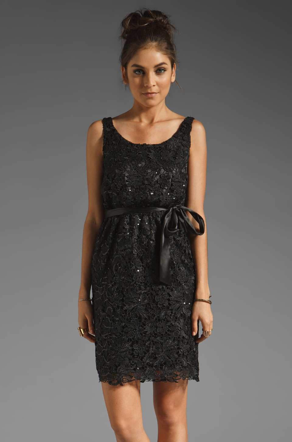 MM Couture by Miss Me Embroidered Dress in Black