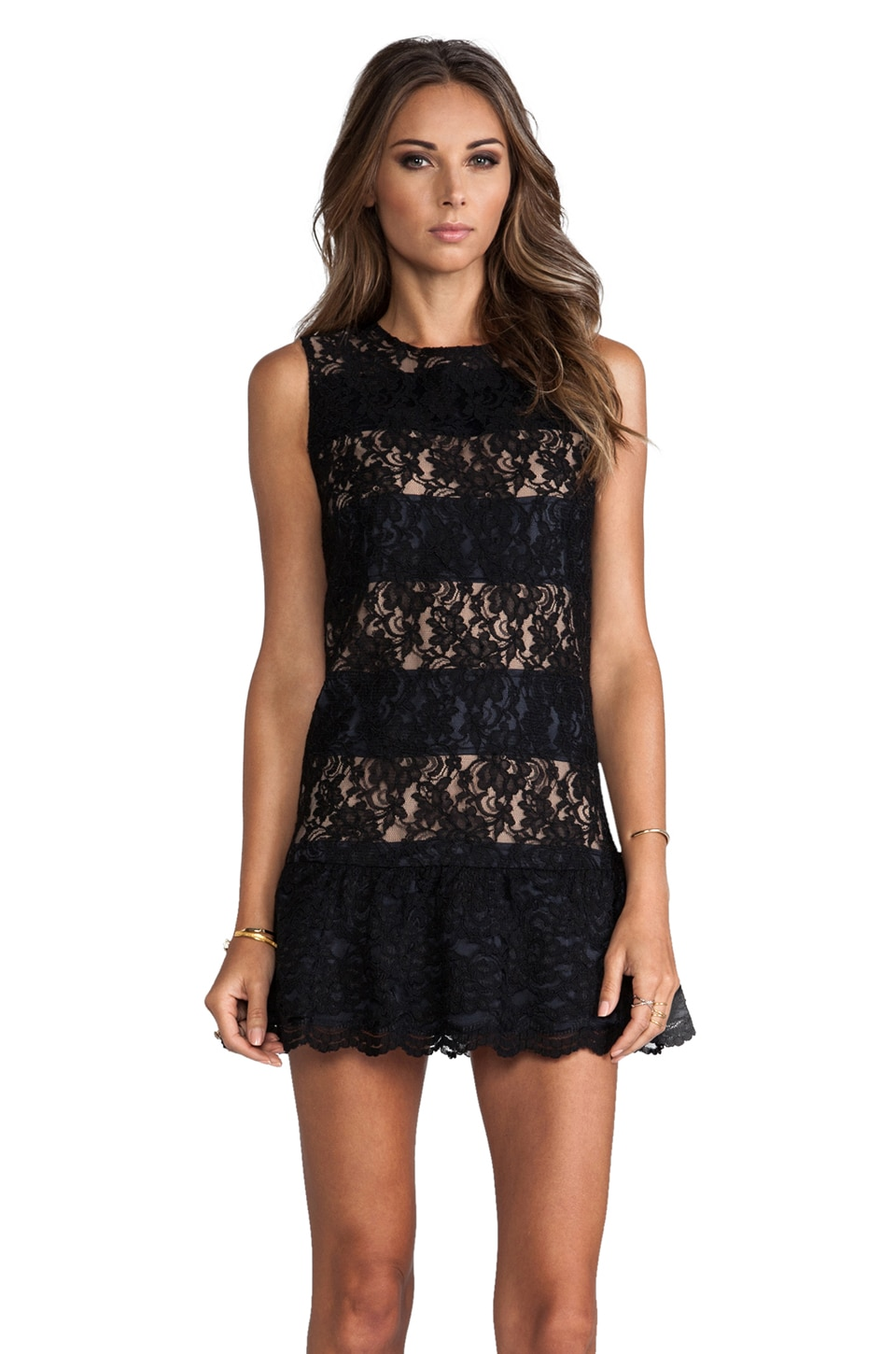 MM Couture by Miss Me Drop Waist Dress in Black
