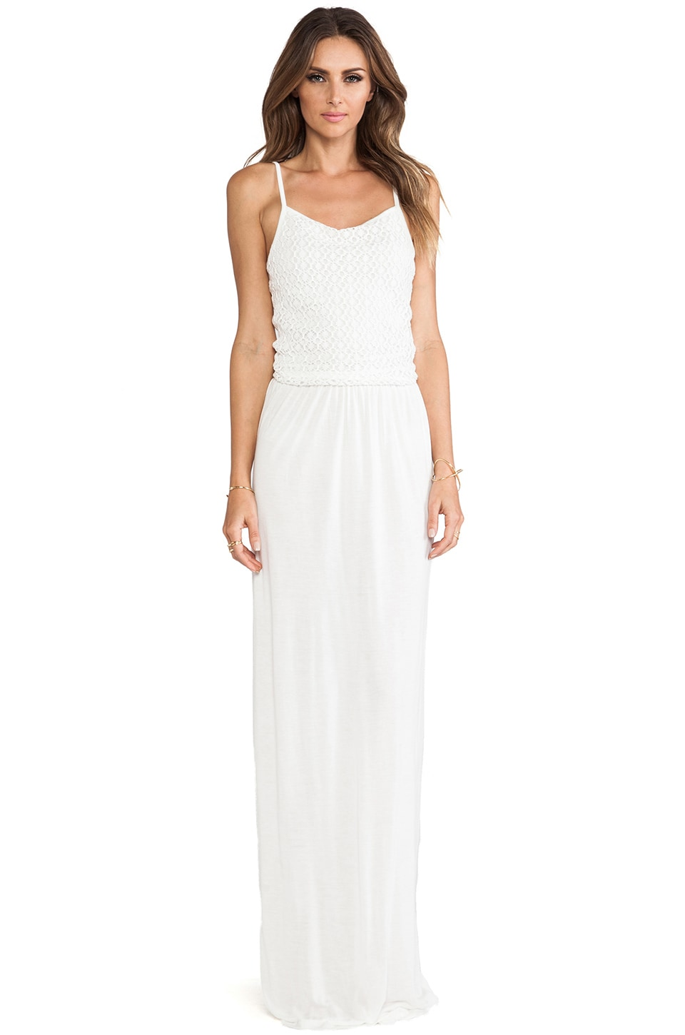 MM Couture by Miss Me Maxi Dress in White